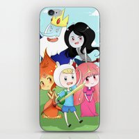 finn and jake iPhone & iPod Skins featuring Finn & Jake  by Rikku Hanari