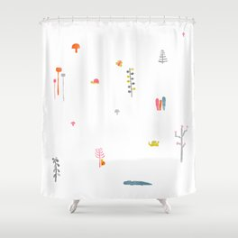 small world Shower Curtain