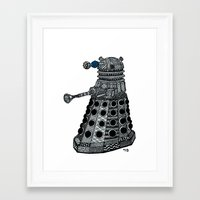 dalek Framed Art Prints featuring Dalek by Rebecca Bear