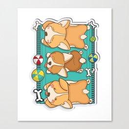 Corgi Dog Funny Gift Canvas Print