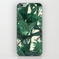 banana leaf iPhone & iPod Skins featuring Banana Leaf Pattern 2 by Tamsin Lucie