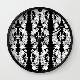Black & White: Heather and Crystal Collection Wall Clock