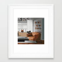 read Framed Art Prints featuring Read by JuniqueStudio