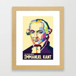 Immanuel Kant in Pop Art Framed Art Print