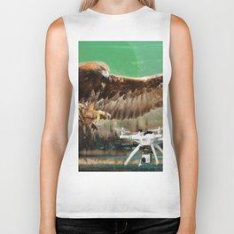 Eagle Chasing Biker Tank