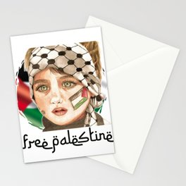 Free Palestine in watercolor Stationery Cards