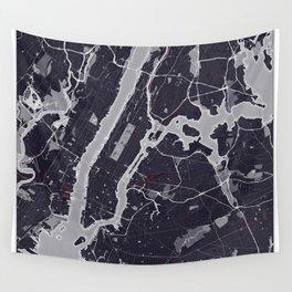 New York City Monochrome Wall Tapestry