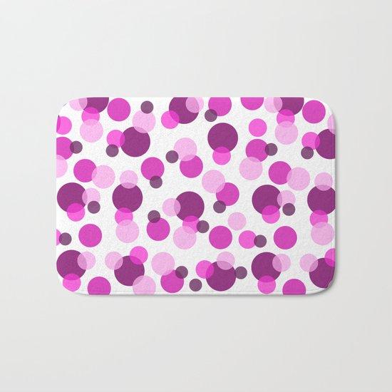 Pink and Purple Spots Bath Mat