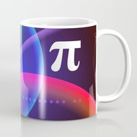 pi Mugs featuring Pi by Mark Sheeky