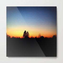 Nature Silhouettes Metal Print