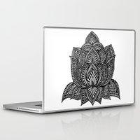 lotus flower Laptop & iPad Skins featuring Lotus by Luna Portnoi