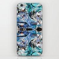 metallic iPhone & iPod Skins featuring Metallic by Lara Gurney