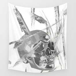 Silver Reflections Wall Tapestry