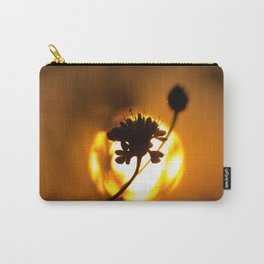 Sun hiding behind a flower 1 Carry-All Pouch