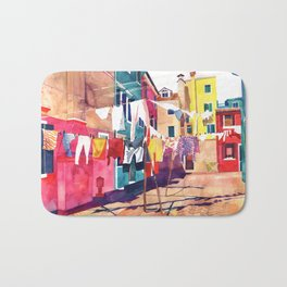 Laundry in Venice Bath Mat
