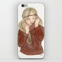 sweater iPhone & iPod Skins featuring Sweater Season by MichelleLynne
