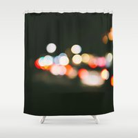 bokeh Shower Curtains featuring Bokeh by Alden Terry