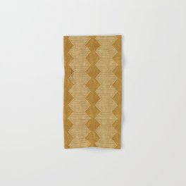 mudcloth diamonds - mustard Hand & Bath Towel