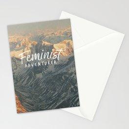Feminist Adventurer Stationery Cards