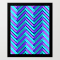 Holly Go Chevron Art Print
