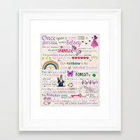 fairy tale Framed Art Prints featuring FAIRY TALE by Precious Beast