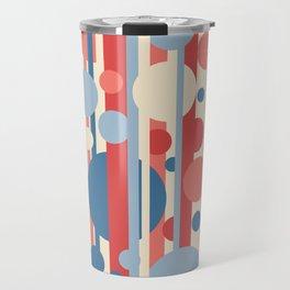 Stripes and circles color mode #3 Travel Mug
