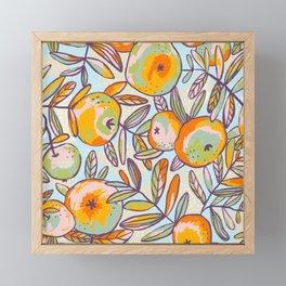 Bright apples Framed Mini Art Print