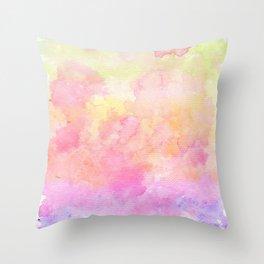 Rainbow Watercolour Gradient Throw Pillow