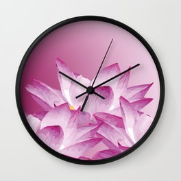 Lotos Flowers Pink Wall Clock