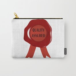 Wax Stamp Quality Assured Carry-All Pouch