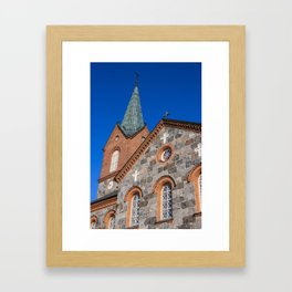 Finland, juva, church Framed Art Print