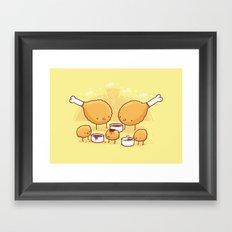 Chicken Farm Framed Art Print