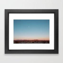 Desert Sky with Harvest Moon Framed Art Print