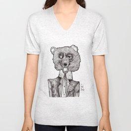 Bear's First Date Unisex V-Neck