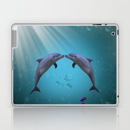 dolphins love Laptop & iPad Skin