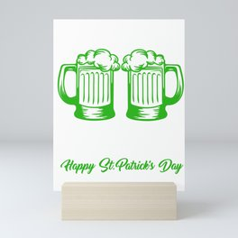 Pinch Me St Patrick's Day Beer Festival Clover Irish Ireland Gift Mini Art Print