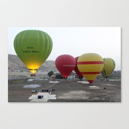 Ballons ascend of Luxor Canvas Print