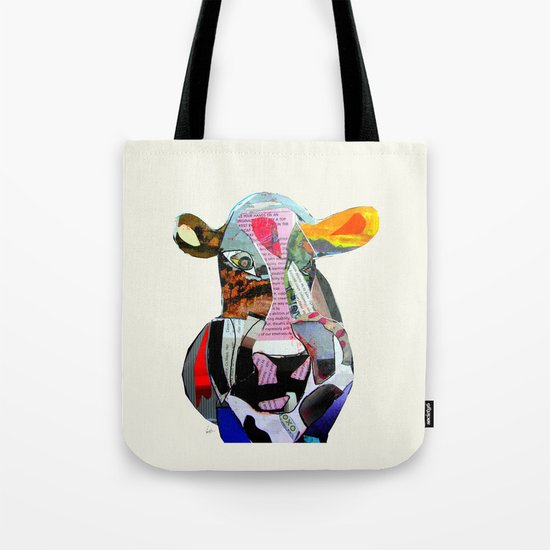 the mod cow  Tote Bag