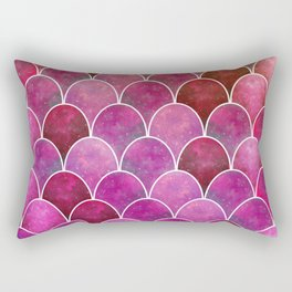 Nebula Mermaid Scale Rectangular Pillow