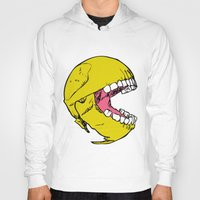 pac man Hoodies featuring Ancient Pac-man by Sauce Designs