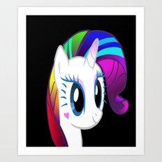 A Unicorn in the Dark Art Print