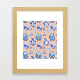 Chinoiserie Ginger Jar Collection No. 1 Framed Art Print