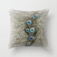 Peacock Summer Throw Pillow