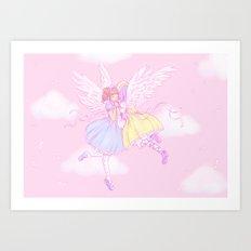 Sweet lolita angels Art Print