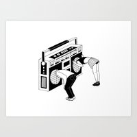 radiohead Art Prints featuring Radiohead by Henn Kim