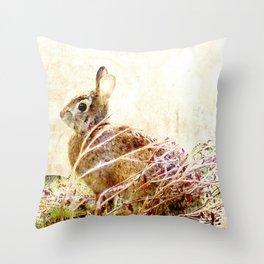 Bunny Time Throw Pillow