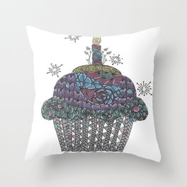 Yummy Cupcake Throw Pillow