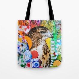 Psychedelic Hawk Tote Bag
