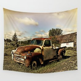 Rusty '51 Chevy Pickup Wall Tapestry