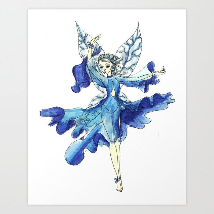The Water Fairy Art Print by sybilstewart